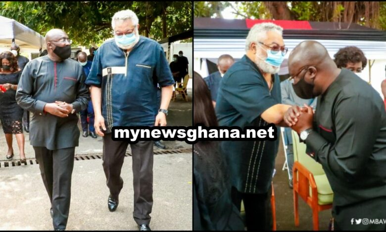 Bawumia visits ex-president Rawlings over death of his mother 8