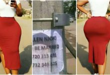 Beautiful lady hangs posters in the streets, looking for a man to marry her 22