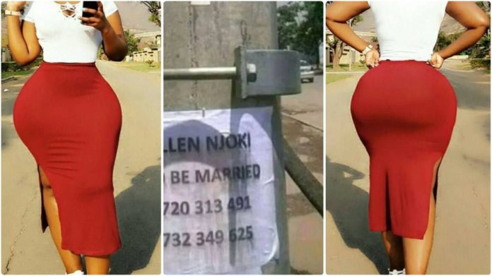 Beautiful lady hangs posters in the streets, looking for a man to marry her 12