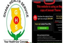 Ghana Health Service Website Can't Be Accessed, Accused Of A Stolen Theme 32