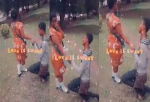 WATCH VIDEO: Teen boy proposes marriage to his Knust JHS girlfriend after completion of BECE 19