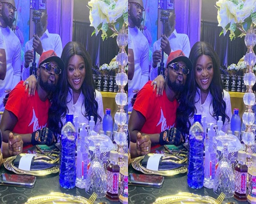 Watch Video: Funny Face goes down on his knees as he proposes to Jackie Appiah 8