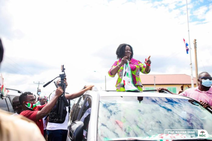 Naana Opoku-Agyemang receives rousing welcome in Alavanyo 17