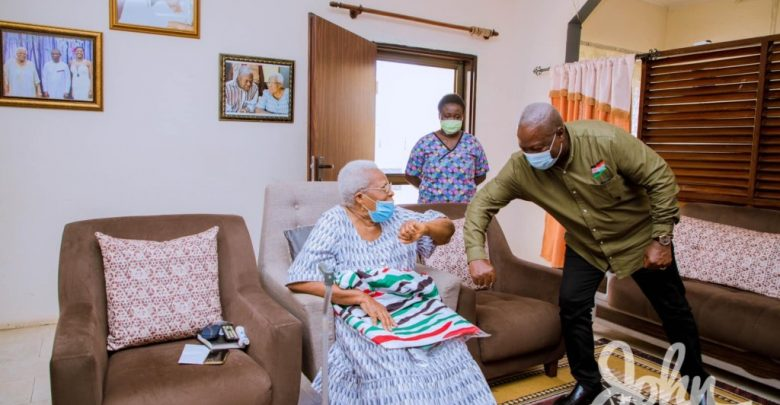 Mahama visits late Amissah-Arthur's mother during tour of Central Region 9