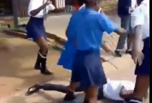 Secondary School Girls Gang Up, Beat Boy For Cheating On Them -Watch 22