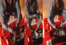 Shocking video of Man performing ritual using live snake for money causes stir [Watch] 2